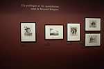 Fig. 8: Installation of Daumier exhibition: Vie publique et vie quotidienne sous le Second Empire