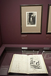 Fig. 14: Installation of Daumier exhibition showing recueil Laran album