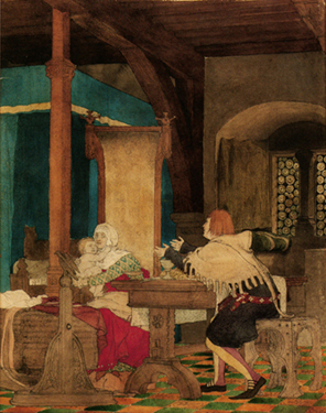 Fig 3 Lawrence Alma Tadema Flemish Interior In The Fourteenth Century Ca 1863 Water Colour And Pencil On Paper Private Collection