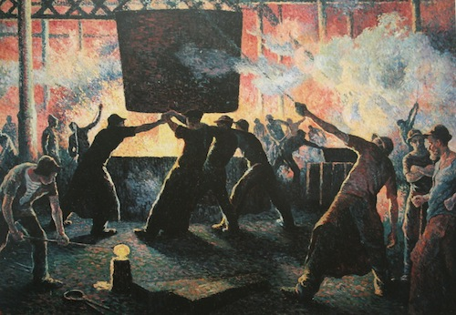 3 Maximilien Luce Le Gueulard The Mouth Of Furnace 1896 Oil On Canvas Musee De LHotel Dieu Mantes La Jolie Photo Marina Ferretti Bocquillon