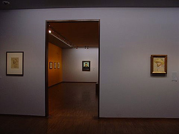 Installation View (Room 3), Paris: Left, Self Portraits (F 1378r),  Januaryu2013June 1887, Pencil, Pen And Dark Brown Ink; Right, Self  Portrait  With Straw Hat ...