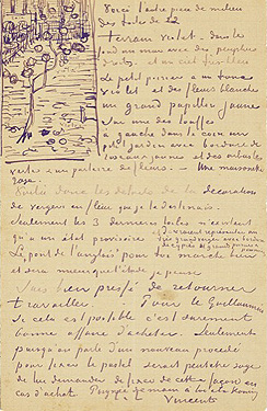 vincent van gogh letter to theo van gogh april 13 1888 van gogh museum vincent van gogh foundation amsterdam photograph courtesy of the van gogh