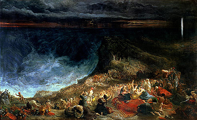 Three Paintings of the Exodus by John Martin, Francis Danby