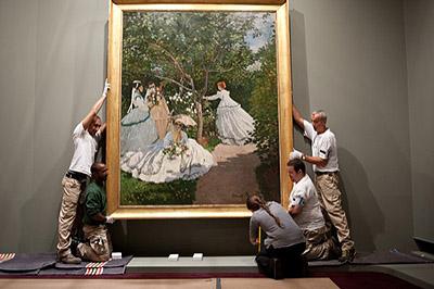 6, Installing The Monet Installation: A True Installation Image. Claude  Monet, Four Women In A Garden, 1866. Oil On Canvas. Musée Du0027Orsay, Paris.