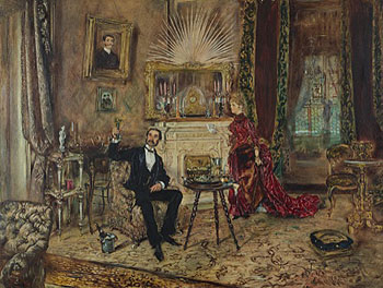 21, Künstlerhaus, U201cLiving In Makart Styleu201d: Anton Romako, Salon Of The  Römer Family, 1887. Oil On Wood. Wien Museum, Vienna. Photograph © Wien  Museum.