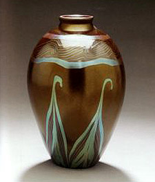 Antique Tiffany Art Glass vase (Tiffany and Company) at OneofaKind
