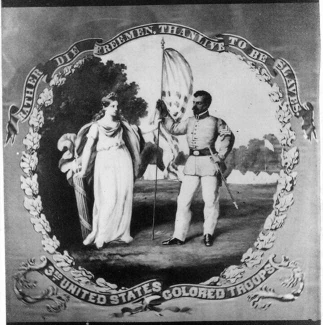 Fig 17 David Bustill Bowser Regimental Flag Now Lost 3rd Regiment United States Colored Troops Ca 1864 Oil On Silk Photo Library Of Congress