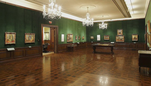 2 View Of The First Gallery Impressions Interiors Gilded Age Paintings By Walter Naturalist Are Shown On Wall To Right